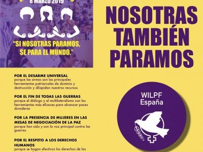 Las mujeres de WILPF también PARAMOS #8M