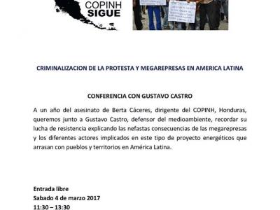Acto homenaje a Berta Cáceres