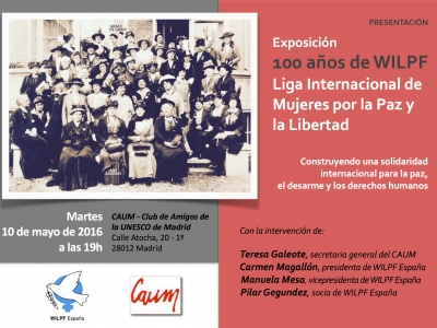 """Presentación de la Exposición """"100 años de WILPF"""" en Madrid"""