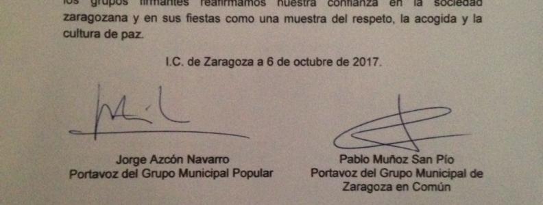 Zaragoza como siempre acogedora, pacífica y festiva