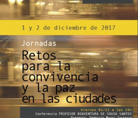 """Jornadas """"Retos para la convivencia y la paz en las ciudades"""""""
