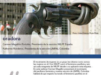 """Webinar """"El Feminismo Pacifista, una tradición de constructoras de paz. El caso de Colombia"""""""