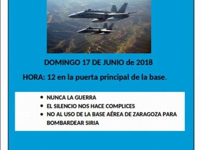 Concentración en la base aérea de Zaragoza