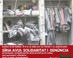 """Acto """"Síria avui: solidaridat y denúncia"""""""