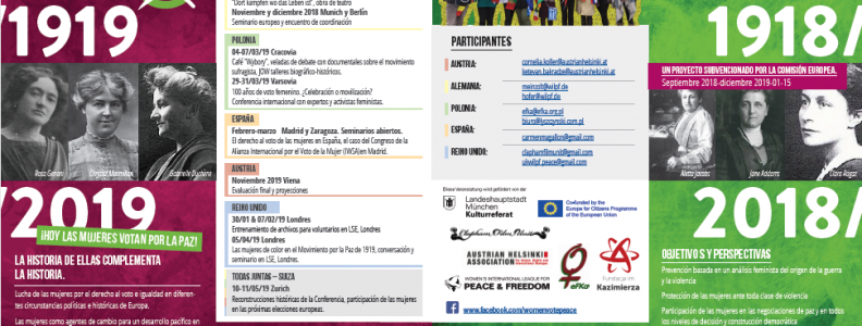 """Seminario """"Las mujeres votan por la paz. El sufragio femenino, la paz y las redes internacionales de mujeres, 1919-2019"""""""