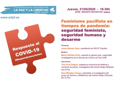 Feminismo Pacifista en tiempos de pandemia: nuevo webinar